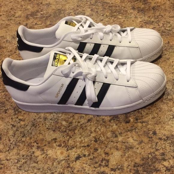 Adidas zapatos hombre  Superstar Shell Toes talla 13 poshmark